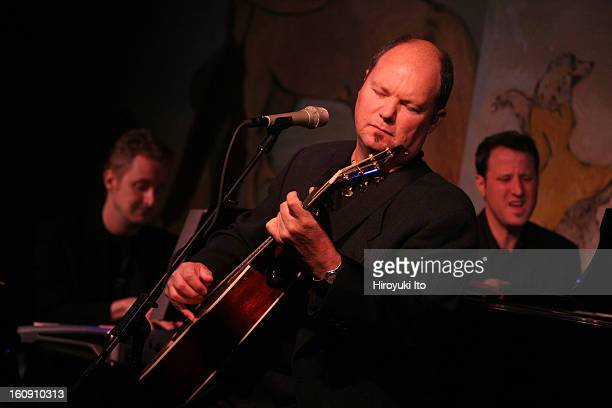 Christopher Cross performing at the Cafe Carlyle on Tuesday night April 15 2008This imageChristopher Cross center with David Mann left and Andy Ezin