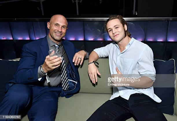 Christopher Daniels and Jack Perry aka Jungle Boy attend WarnerMedia's A Midsummer Daydream TCA afterparty at Spring Place on July 24 2019 in Beverly...