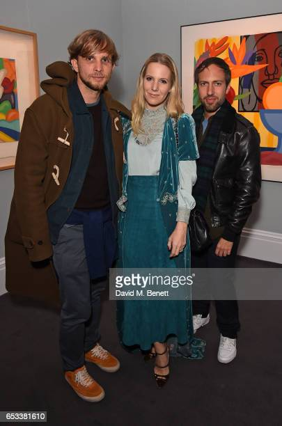 Christopher De Vos Alice NaylorLeyland and Peter Pilotto attend the launch of new book 'London Uprising Fifty Fashion Designers One City' by Tania...