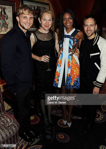 Christopher de Vos Justine Picardie Naomie Harris and Peter Pilotto attend the Harper's Bazaar London Fashion Week SS14 closing party at Annabel's on...
