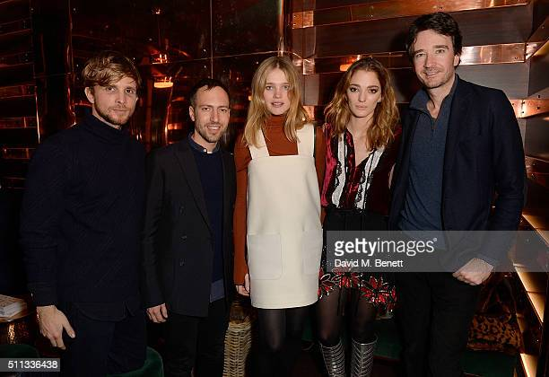 Christopher de Vos Peter Pilotto Natalia Vodianova Sofia Sanchez de Betak and Antoine Arnault attend a dinner hosted by The Luxury Collection Hotels...
