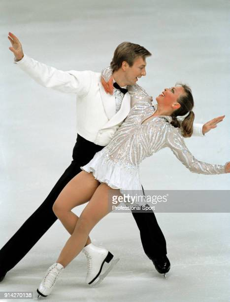 Christopher Dean and Jayne Torvill enroute to winning the ice dancing competition during the British Ice Skating Championships in Sheffield on 8th...