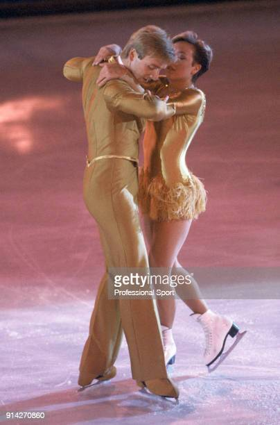 Christopher Dean and Jayne Torvill of Great Britain perfor their Barnum ice dance routine at Richmond in London England on 2nd February 1983