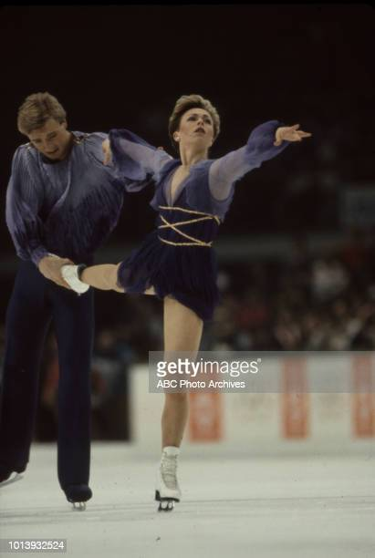Christopher Dean Jayne Torvill competing in the Ice dancing event at the 1984 Winter Olympics / XIV Olympic Winter Games Zetra Ice Hall