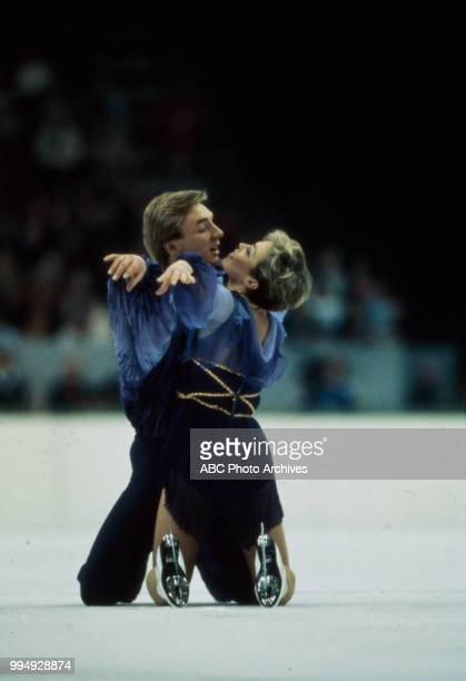 Christopher Dean Jayne Torvill in the ice dancing competition at the 1984 Winter Olympics / XIV Olympic Winter Games Zetra Ice Hall