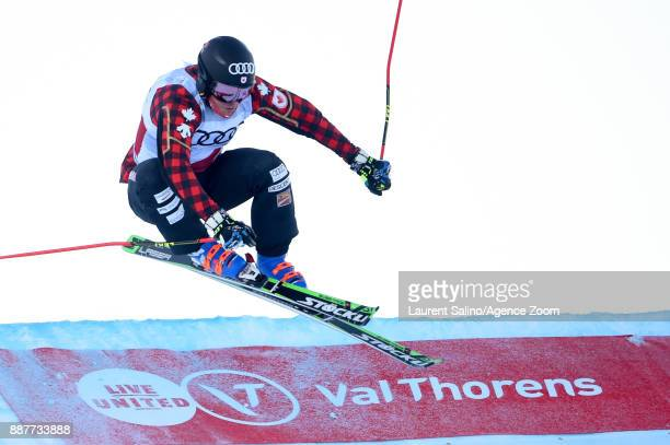 Christopher Delbosco of Canada during trainings during the FIS Freestyle Ski World Cup, Men's and Women's Ski Cross on December 7, 2017 in Val...