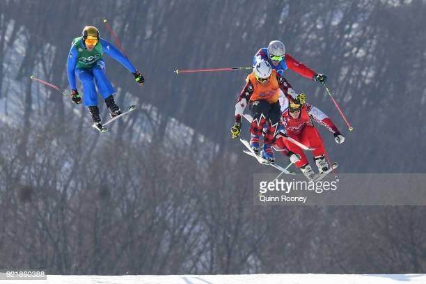 Christopher Delbosco of Canada Siegmar Klotz of Italy Sergey Ridzik of Olympic athletes of Russia and Francois Place of France in the Freestyle...