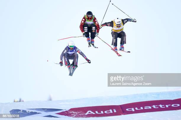 Christopher Delbosco of Canada takes 1st place, Arnaud Bovolenta of France takes 2nd place, Terence Tchiknavorian of France takes 3rd place during...