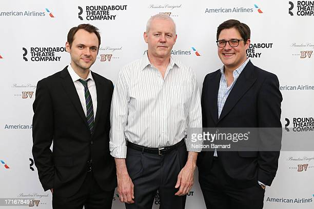 Christopher Denham David Morse and Rich Sommer attend The Unavoidable Disappearance Of Tom Durnin Opening Night at Laura Pels Theatre on June 27 2013...