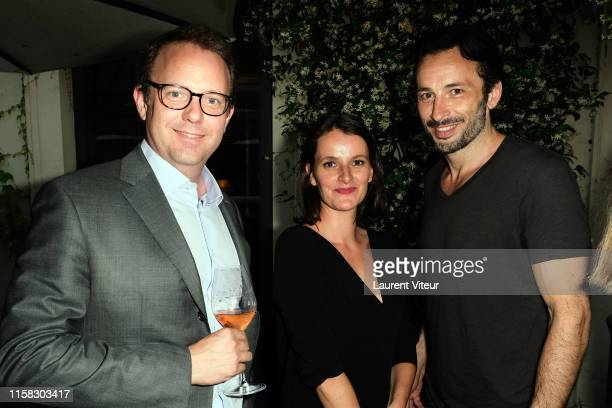 Christopher Descours, Maud Rabin and Michael Cohen attend the Millesime Champagne Rose 2008 By Maison Piper Heidsieck : Launch Party At Pavillon De...