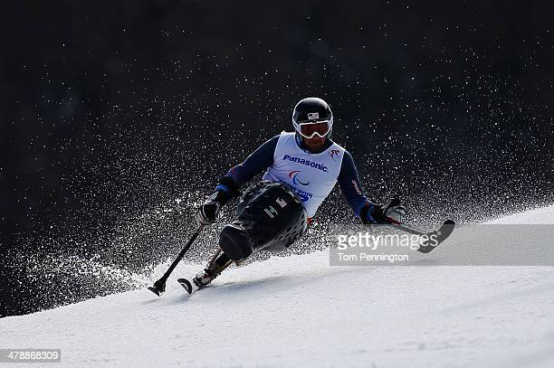 Christopher DevlinYoung of the United States competes in the Men's Giant Slalom Sitting during day eight of the Sochi 2014 Paralympic Winter Games at...
