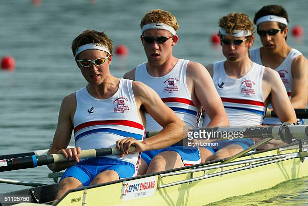 Christopher Douglas Harry Scarr Charles Burkitt Thomas Williams and Nicholas Brodie of Great Britain in action during the FISA Senior and Junior...