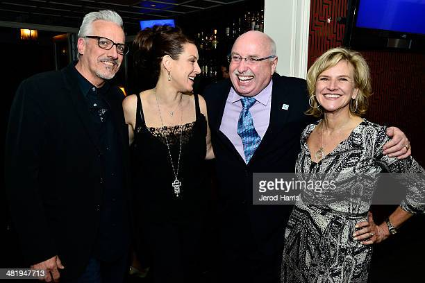 Christopher Duddy Joely Fisher President and CEO of IFAW Azzedine Downes and VP of Communications for IFAW Donna Gadomski attend an evening with...
