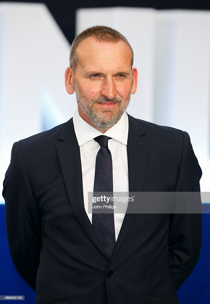 Christopher Eccleston attends the UK Premiere of 'Legend' at Odeon Leicester Square on September 3, 2015 in London, England.