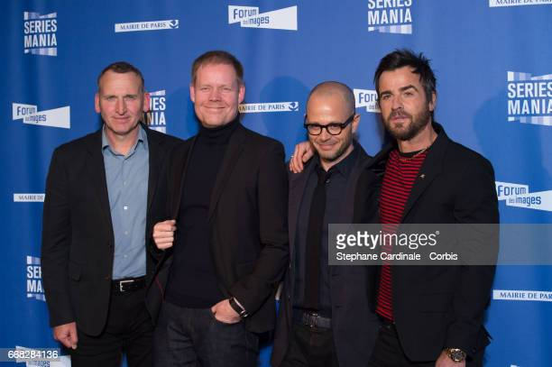 Christopher Eccleston Max Richter Damon Lindelof and Justin Theroux attend the 'Series Mania Festival' opening night at Le Grand Rex on April 13 2017...
