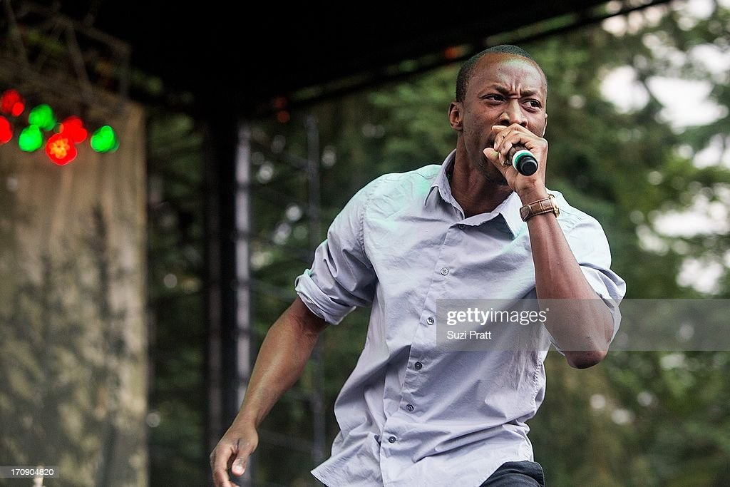 Christopher Ellis of Ghetto Youths Crew performs live at Marymoor Park on June 19, 2013 in Redmond, Washington.