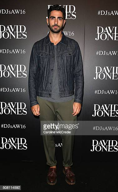 Christopher Esber arrives ahead of the David Jones Autumn/Winter 2016 Fashion Launch at David Jones Elizabeth Street Store on February 3 2016 in...
