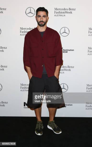 Christopher Esber arrives ahead of the MercedesBenz Fashion Week Australia 2017 Schedule Launch at Ovolo Hotel on March 29 2017 in Sydney Australia