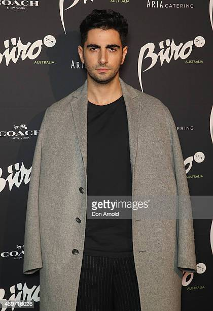 Christopher Esber arrives at the Buro 24/7 Australia launch at the Sydney Opera House on April 14 2015 in Sydney Australia