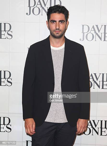 Christopher Esber arrives at the David Jones Autumn/Winter 2015 Collection Launch at David Jones Elizabeth Street Store on February 4 2015 in Sydney...