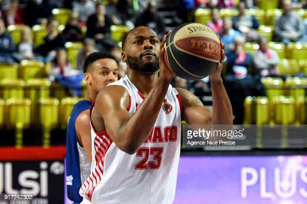 Christopher Evans of Monaco during the Pro A match between Monaco and Gravelines Dunkerque on February 11 2018 in Monaco Monaco