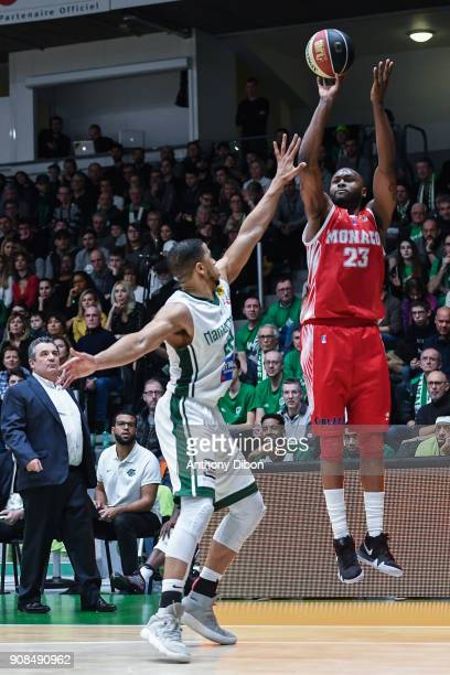 Christopher Evans of Monaco during the Pro A match between Nanterre 92 and Monaco on January 21 2018 in Nanterre France
