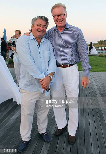 Christopher Fischer and Chuck Scarborough attend the Evelyn Alexander Wildlife Rescue Center Summer 2011 benefit at a Private Residence on August 20...