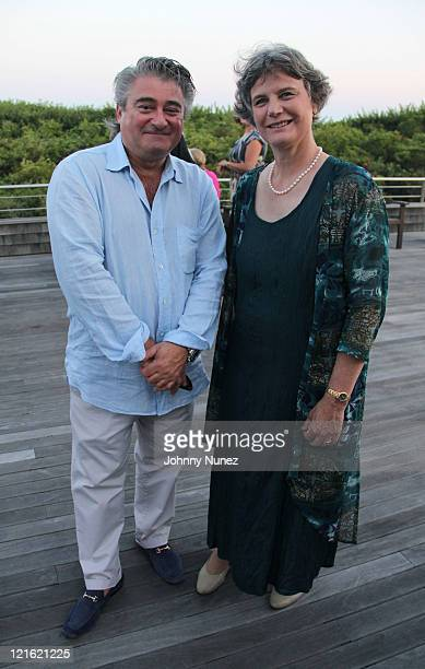 Christopher Fischer and Ginnie Frati attend the Evelyn Alexander Wildlife Rescue Center Summer 2011 benefit at a Private Residence on August 20 2011...