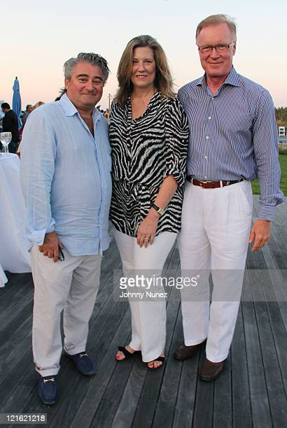 Christopher Fischer Joni Fischer and Chuck Scarborough attend the Evelyn Alexander Wildlife Rescue Center Summer 2011 benefit at a Private Residence...