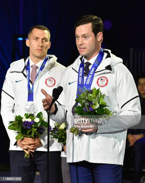 Christopher Fogt and Steven Langton speak onstage during the 2019 Team USA Awards at Universal Studios Hollywood on November 19 2019 in Universal...