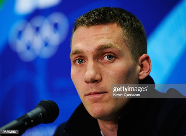 Christopher Fogt of United States attends the United States Olympic Committee Bobsleigh Men Press Conference at the Main Press Centre ahead of the...