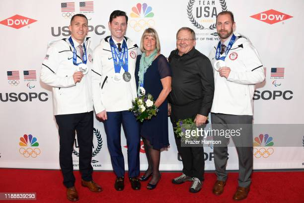 Christopher Fogt Steven Langton Jean Schaefer Steve Holcomb and Curtis Tomasevicz attend the 2019 Team USA Awards at Universal Studios Hollywood on...