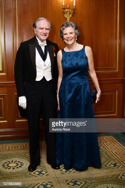 Christopher Forbes and Moria Mumma attend The International Debutante Ball at The Pierre Hotel on December 29 2018 in New York City