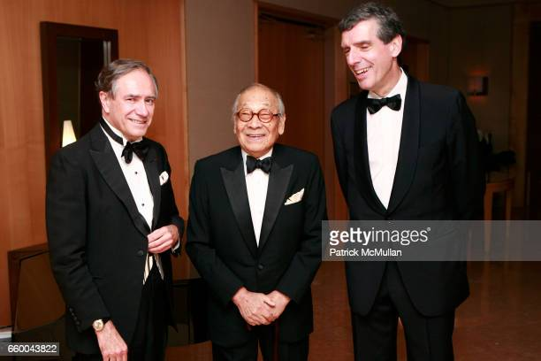 Christopher Forbes IM Pei and Henri Loyrette attend American Friends of The Louvre Honor IM PEI And The 20th Anniversary of The Pyramid at The Four...