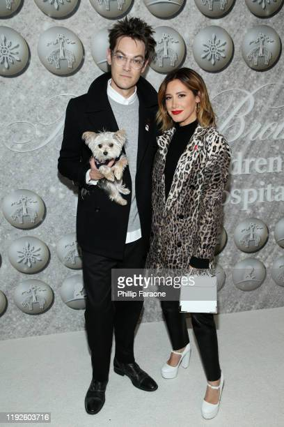Christopher French and Ashley Tisdale attend Brooks Brothers Annual Holiday Celebration To Benefit St Jude at The West Hollywood EDITION on December...