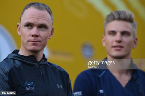 Christopher FROOME and Marcel Kittel during the 1st TDF Shanghai Criterium 2017 Media Day On Saturday 28 October 2017 in Shanghai China