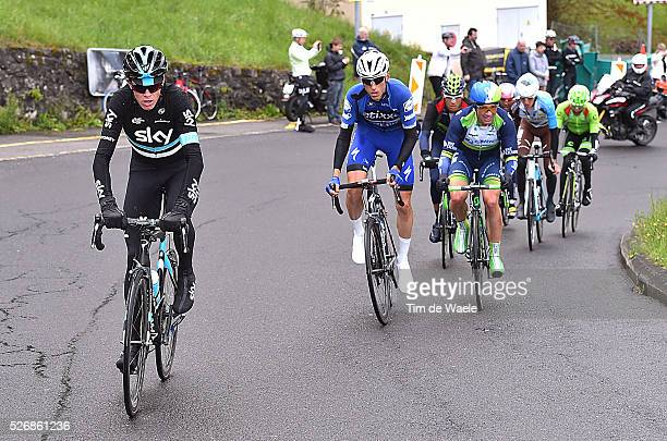 Christopher Froome Carlos Verona and Michael Albasini compete during stage 5 of the Tour de Romandie on May 1 2016 in Geneva Switzerland