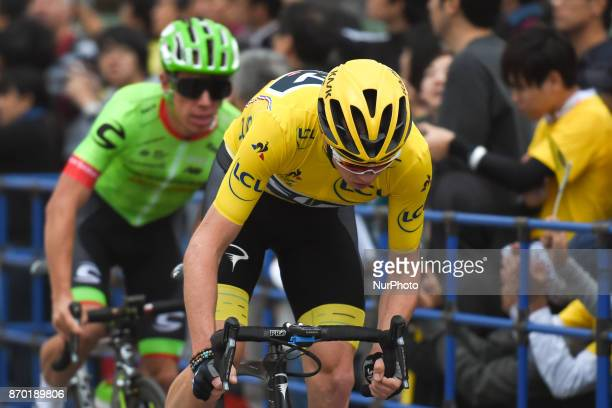 Christopher FROOME leads ahead of Rigoberto URAN during 589km Main Race of the 5th edition of TDF Saitama Criterium 2017 On Saturday 4 November 2017...