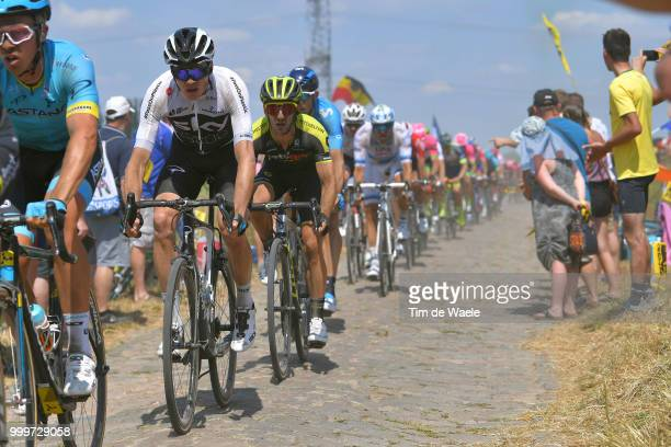 Christopher Froome of Great Britain and Team Sky / Adam Yates of Great Britain and Team MitcheltonScott / during the 105th Tour de France 2018 Stage...