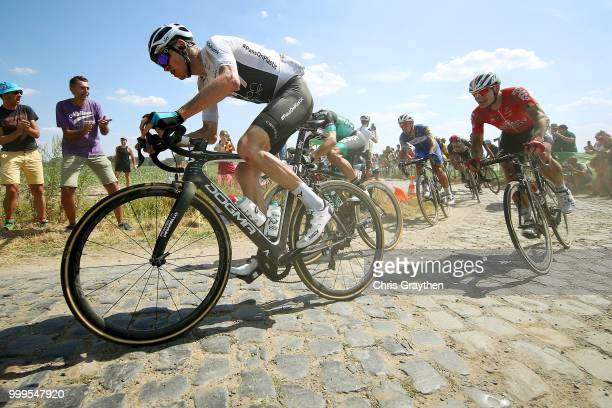 Christopher Froome of Great Britain and Team Sky / Andre Greipel of Germany and Team Lotto Soudal / Bourghelles À Wannehain Cobbles Sector 3 / Pave /...