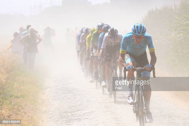 Christopher Froome of Great Britain and Team Sky / Cobbles / Pave / Dust / during the 105th Tour de France 2018, Stage 9 a 156,5 stage from Arras...