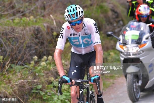 Christopher Froome of Great Britain and Team Sky / Colle Delle Finestre / during the 101st Tour of Italy 2018 Stage 19 a 185km stage from Venaria...
