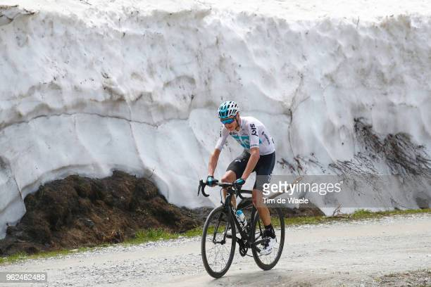 Christopher Froome of Great Britain and Team Sky / Colle Delle Finestre / during the 101st Tour of Italy 2018, Stage 19 a 185km stage from Venaria...