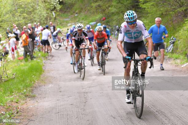 Christopher Froome of Great Britain and Team Sky / Domenico Pozzovivo of Italy and Team Bahrain-Merida / Tom Dumoulin of The Netherlands and Team...