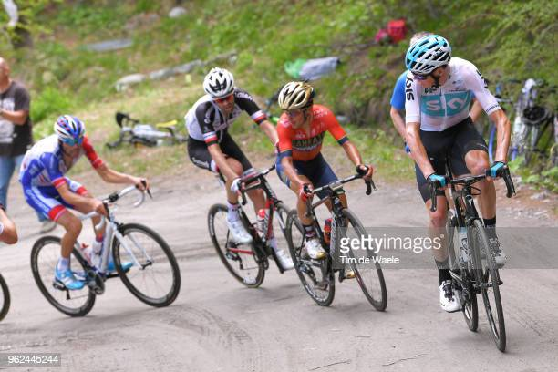 Christopher Froome of Great Britain and Team Sky / Domenico Pozzovivo of Italy and Team BahrainMerida / Tom Dumoulin of The Netherlands and Team...