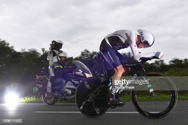 Christopher Froome of Great Britain and Team Sky / during the 105th Tour de France 2018 Stage 20 a 31km Individual Time Trial stage from...