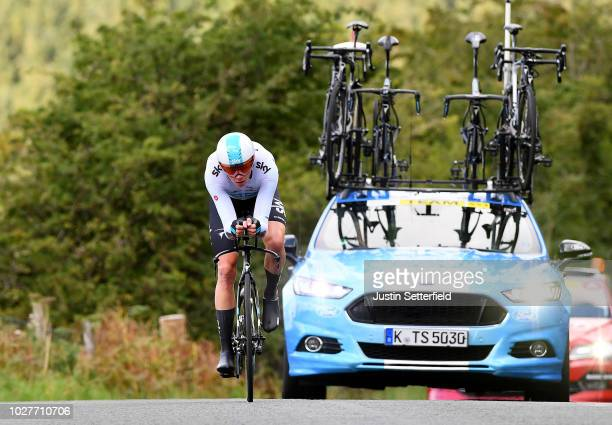 Christopher Froome of Great Britain and Team Sky / during the 15th Tour of Britain 2018, Stage 5 a 14km Team Time Trial from Cockermouth to Keswick -...