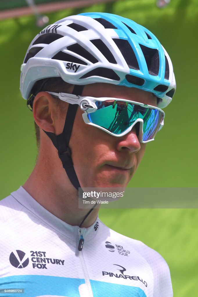 Christopher Froome of Great Britain and Team Sky / during the 42nd Tour of the Alps 2018, Stage 1 a 134,6km stage from Arco to Folgaria 1160m on April 16, 2018 in Folgaria, Italy.