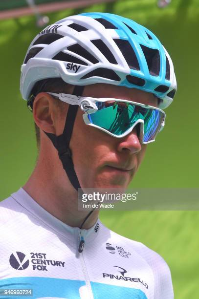 Christopher Froome of Great Britain and Team Sky / during the 42nd Tour of the Alps 2018 Stage 1 a 1346km stage from Arco to Folgaria 1160m on April...