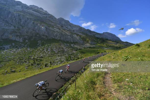 Christopher Froome of Great Britain and Team Sky / Egan Arley BERNAL of Colombia and Team Sky / David Gaudu of France and Team Groupama FDJ / Daniel...